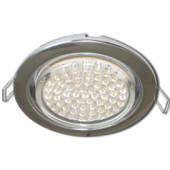 Ecola GX53 H4 Downlight without reflector_chrome (светильник) 38x106 - 10 pack (кd102)